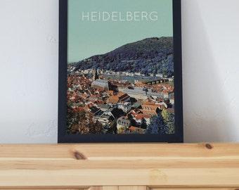 heidelberg germany poster 11x17 18x24 24x36