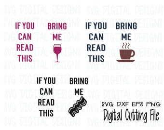 If you can read this Bring Me Socks - Svg Bundle - Sock Svg Design Cut files for Silhouette & Cricut - Svg Dxf Eps Png