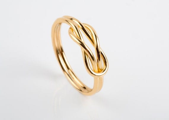 14K 18K Solid Gold Knot Ring Infinity Knot Ring Wife Ring