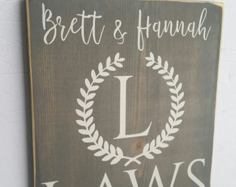 Family Name Sign. Custom Family Established Sign. Personalized Family Name Wood Sign. Great Wedding Gift & Anniversary gift in Home Decor.