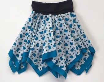 Blue Bird Bandana Skirt