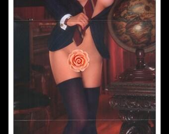 "Mature Playboy April 1989 : Playmate Centerfold Jennifer Lyn Jackson Gatefold 3 Page Spread Photo Wall Art Decor 11"" x 23"""