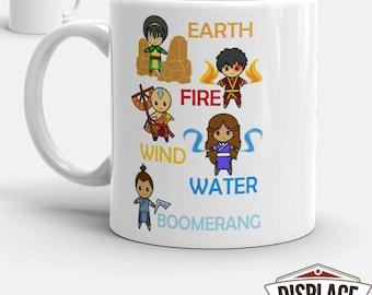 Avatar The Last Airbender Mug / The Legend Of / Last Airbender Mug / Anime Mug / Anime Gift / Avatar Mug / 11oz 15oz Coffee Mug