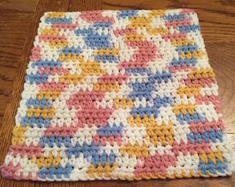 Crocheted Dishcloths Calico
