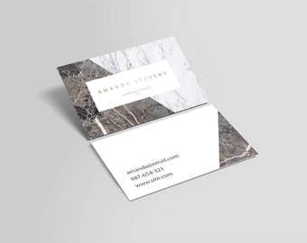 rose gold card marble business card business card design card wedding
