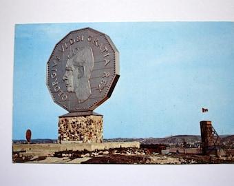 Big Nickel Monument Sudbury Ontario Postcard 1968 /  Sudbury Postcard / Tourist Attraction Postcard / Money Postcard