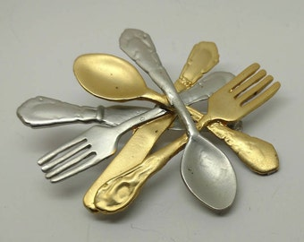 Vintage Modern Pin Spoons/Forks/Knife Brooch