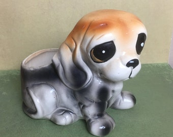 Ruben's Original Droopy Eyed Dog Planter or Vase  - Made In Japan 3198