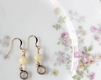 Dainty Earring Dangles - Everyday Earrings - Bridesmaids Earrings - Drop Earrings - Gift for Mom - Crystal Earrings - Girlfriend Gift