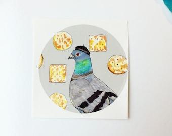 Fancy Pigeon Sticker