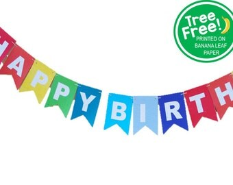 Happy Birthday, Solid Colors (Printed on Tree-Free Banana Paper!)