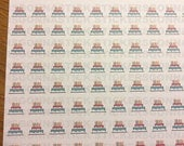 130 Birthday Cake Stickers | Ideal for planners, scrapbooks, journals, calendars
