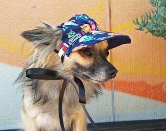 Robot Dog Hat, Dog Cap, Dog Baseball Hat, Dog Visor, Dog accessories, Pet accessories, dog gift, dog photo prop, hat for dogs, Robots