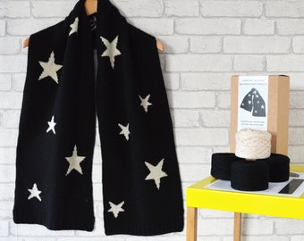 Oversize Scarf,Knitting Kit,Oversized Scarf,Oversized Scarf Kit,Diy Oversized knitting,Oversize Star Scarf Kit