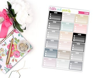 Neutral Work Checklist Planner Stickers for the Erin Condren Life Planner, Checklist Sticker - [P0408]