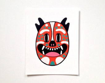 Screen Print - Clown Cat