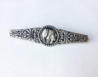 Roman bar brooch   800 silver brooch   Bar pin  