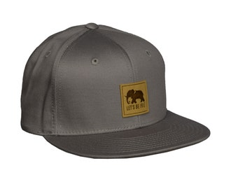 Elephant - Grey Snapback Hat by LET'S BE IRIE