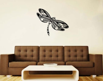 Dragonfly Vinyl Decal Flying Adder Wall Sticker Insect Animals Wall Decor Home Art Decor (5dly)