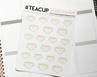 Tea Cup Heart ECLP Erin Condren Lifeplanner™Happy Planner Stickers