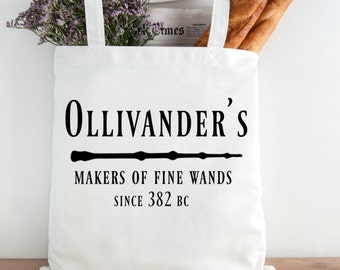 Ollivander's Wand Shop Grocery Tote and Book Bag