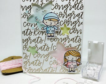 Handmade Congratulations Shaker Card