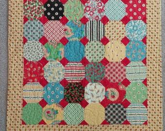 Cheerful Cherry Quilt - Snowball Pattern