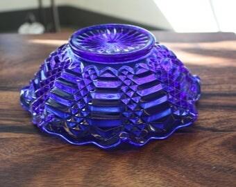Cobalt Blue Glass Bowl