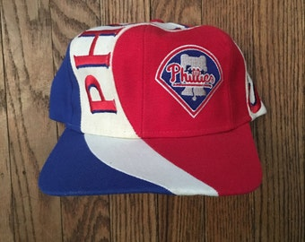 Vintage Philadelphia Phillies Baseball MLB Snapback Hat Baseball Cap