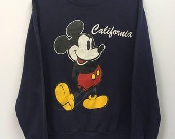 Vintage / / Mickey Mouse California/Walt Disney / / Jersey/sudadera/tirar sobre chaqueta / / talla M / / Made In USA