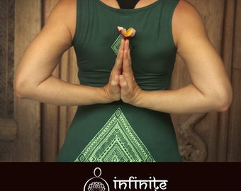 Ethnic top, emerald, green, yoga top, spiritual clothing, yoga clothes, workout clothes, spirit shirt, workout top, yoga clothing, yoga gift