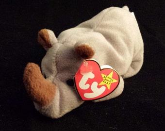 TY Beanie Baby - Rhino, Spike - August 13, 1996