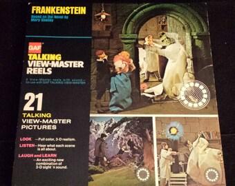 "Vintage 1970's ""Frankenstein"" Talking View-Master Reels COMPLETE"