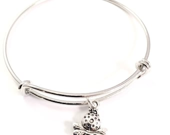 Little Girl bracelet, little bee charm bracelet, busy bee charm bracelet, little girl jewelry, bee charm, queen bee, flower girl jewelry