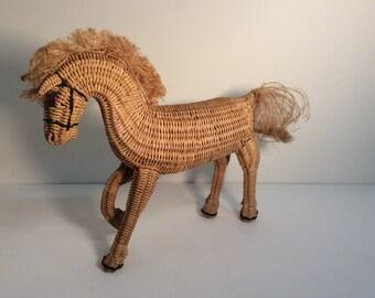 Wicker Horse Doll-Wicker Pony Figure
