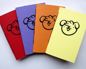 Saddle Stitch Dog Notebooks - Scruffy Dog