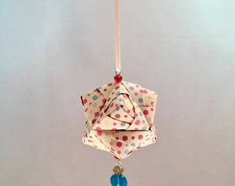 Colorful Polka Dot Origami Christmas/Holiday Ornament