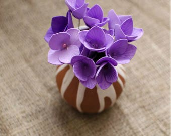 Purple Foam Flowers 6 pcs Mixed Flower Jewelery making Supplies Miniature Flowers