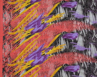 "Dressmaking Fabric, Multicolor Abstract Print, Indian Fabric, Home Decor Fabric, Sewing Fabric, 44"" Inch Rayon Fabric By The Yard ZBR124"