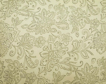 """Indian Dress Fabric, Floral Fabric, Beige Fabric, Home Accessories, Craft Fabric, 55"""" Inch Rayon Fabric By The Yard ZBR227A"""