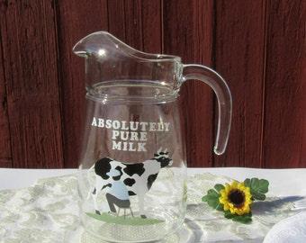 Vintage Cera Water Milk Pitcher Large