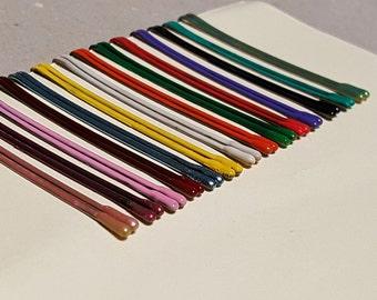 Colored Bobby Pins. Decorative bobby pins, blue hair pins, green hair accessories, pink hair pins, colored hair pins, painted bobby pins