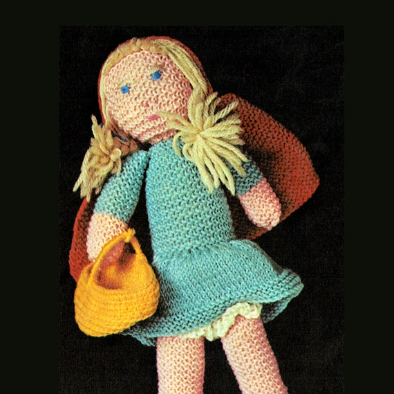 Knitting Pattern For Little Red Riding Hood Doll : Items similar to PDF Vintage Fairytale Little Red Riding ...