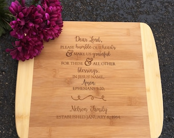 Engraved Cutting Board,Humble Hearts,Personalized Cutting Board,Shower Gift,Wedding Gift,Anniversary Gifts,Housewarming Gift,Laser Engraved