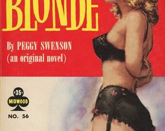 Lesbian pulp vintage art print The Blonde — pulp paperback cover repro