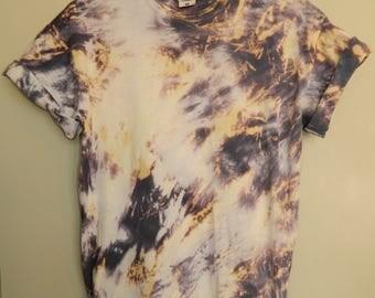 Tie Dye T-Shirt acid wash T-shirt hipster vintage 80s Retro 90s dip dye men women  Rave skate festival unisex Galaxy skate grunge Indie top