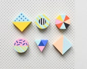 90s erasers, pastel erasers, candy colors erasers, confetti erasers, Paper Poetry