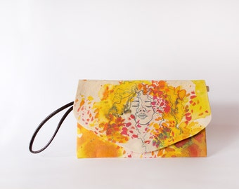 Illustrated bag Davalia - envelope bag