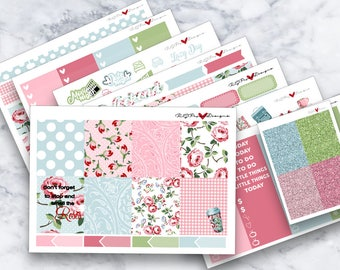 Stop and Smell the Roses | ECLP Vertical | Happy Planner Classic | Weekly Kit | Planner Stickers