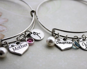 mother daughter bracelet set, mother daughter bangle set, mother daughter jewelry, mother daughter bracelets, mother daughter jewelry set